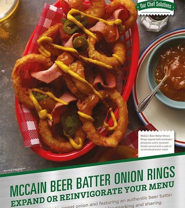 Onion Rings Beer Batter Flyer