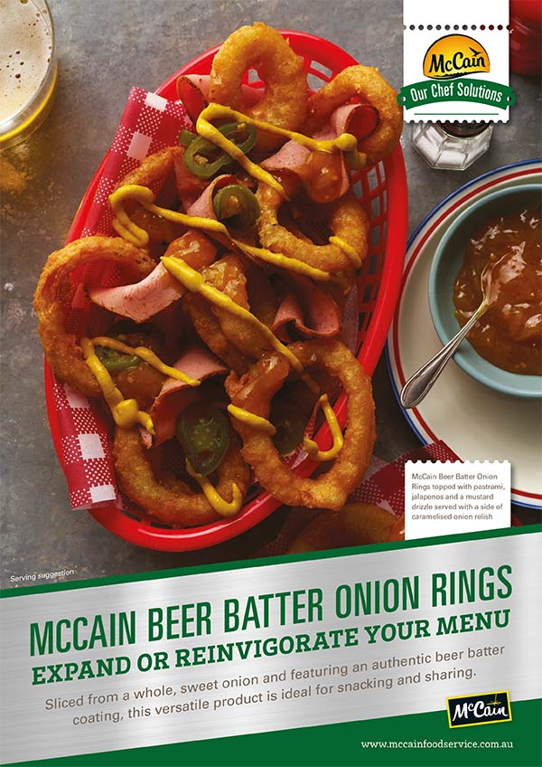 Onion Rings Beer Batter Flyer